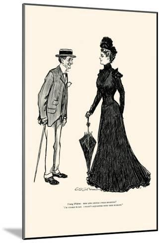 How Long Should I Wear Mourning-Charles Dana Gibson-Mounted Art Print