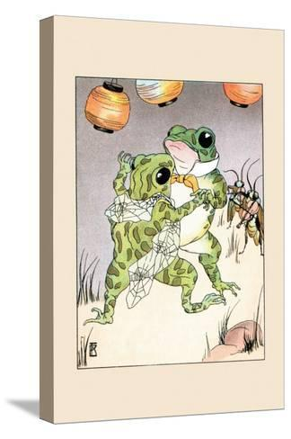 Dance With Billy Bullfrog-Frances Beem-Stretched Canvas Print