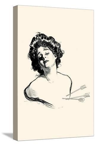 Pierced In the Heart-Charles Dana Gibson-Stretched Canvas Print