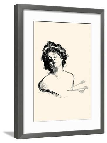 Pierced In the Heart-Charles Dana Gibson-Framed Art Print