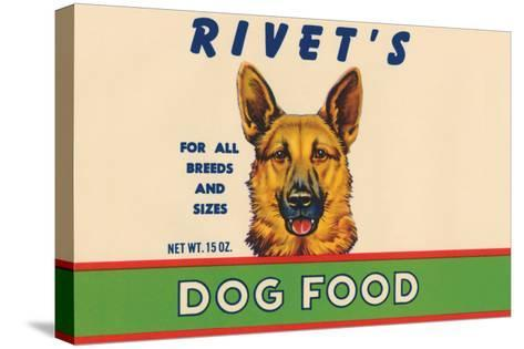 Rivet's Dog Food--Stretched Canvas Print