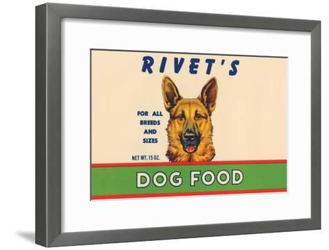 Rivet's Dog Food--Framed Art Print
