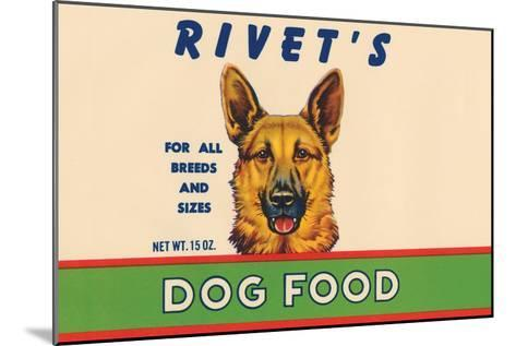 Rivet's Dog Food--Mounted Art Print