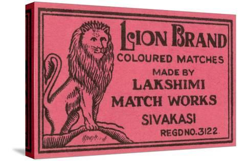 Lion Brand Coloured Matches--Stretched Canvas Print
