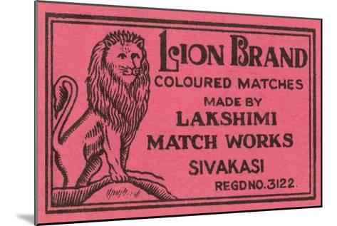 Lion Brand Coloured Matches--Mounted Art Print