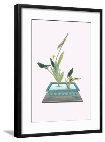 Kohone (Water Lily) In a Sunabachi-Josiah Conder-Framed Art Print