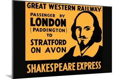 Shakespeare Express--Mounted Art Print