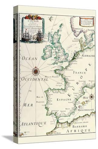 Europe-Matthias Merian-Stretched Canvas Print