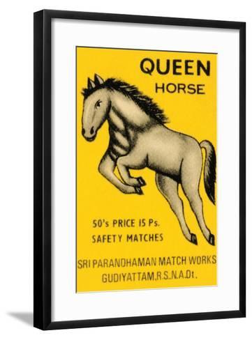 Queen Horse--Framed Art Print