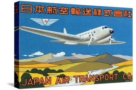 Japan Air Transport Label--Stretched Canvas Print