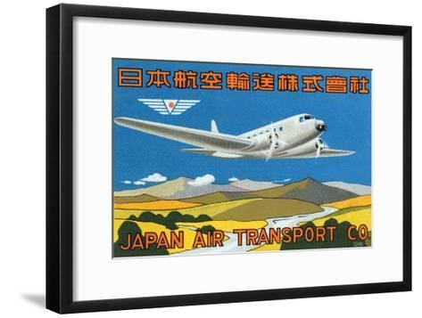 Japan Air Transport Label--Framed Art Print
