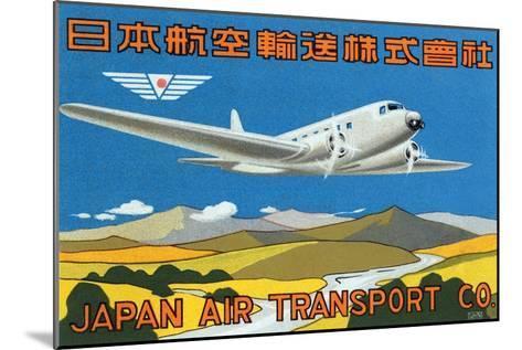 Japan Air Transport Label--Mounted Art Print