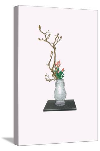 Mokuren & Yuri (Magnolia And Lily) In Kenryu-Josiah Conder-Stretched Canvas Print