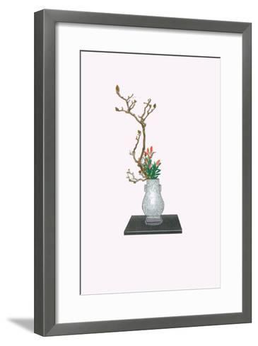 Mokuren & Yuri (Magnolia And Lily) In Kenryu-Josiah Conder-Framed Art Print