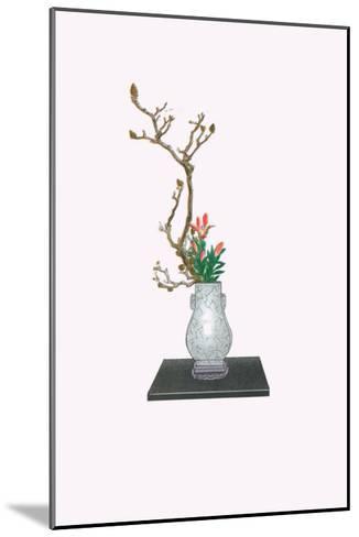 Mokuren & Yuri (Magnolia And Lily) In Kenryu-Josiah Conder-Mounted Art Print