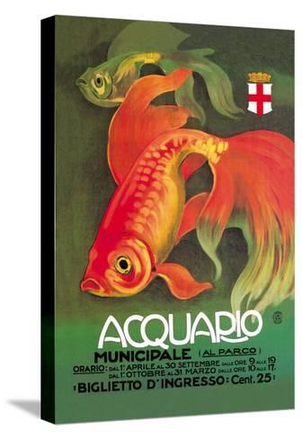 Acquario-Leopoldo Metlicovitz-Stretched Canvas Print