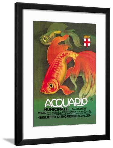 Acquario-Leopoldo Metlicovitz-Framed Art Print