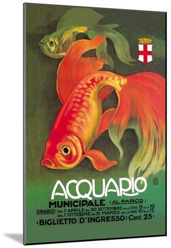 Acquario-Leopoldo Metlicovitz-Mounted Art Print
