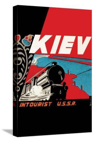 Kiev - Intourist U.S.S.R.--Stretched Canvas Print