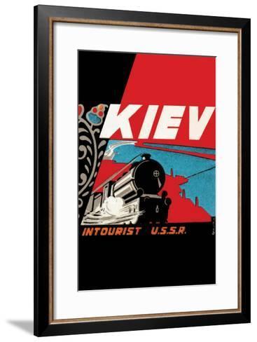 Kiev - Intourist U.S.S.R.--Framed Art Print