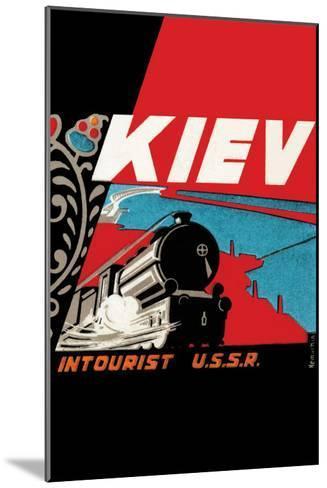Kiev - Intourist U.S.S.R.--Mounted Art Print