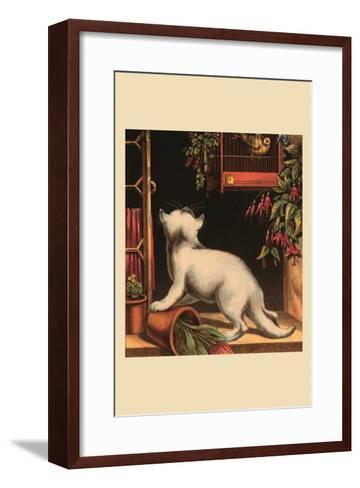 Disappointed Kitten--Framed Art Print