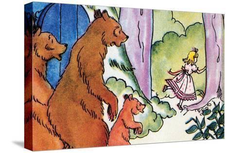 Goldilocks Flees-Julia Letheld Hahn-Stretched Canvas Print