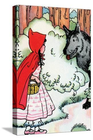 Little Red Riding Hood Meets the Wolf-Julia Letheld Hahn-Stretched Canvas Print