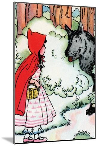 Little Red Riding Hood Meets the Wolf-Julia Letheld Hahn-Mounted Art Print