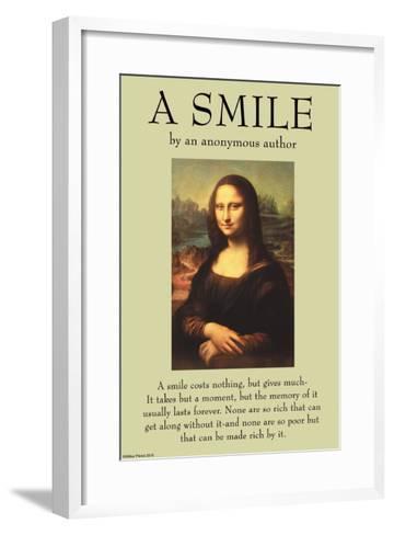 A Smile--Framed Art Print