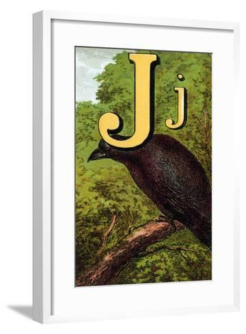 J For the Jackdaw, Perky And Bold-Edmund Evans-Framed Art Print