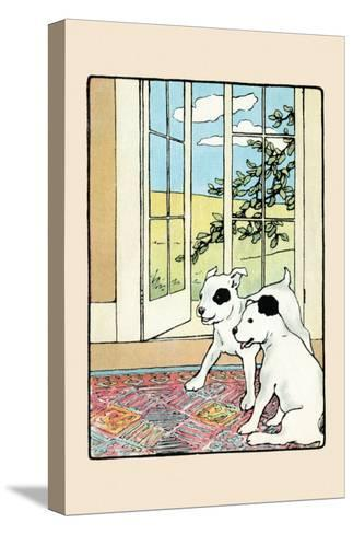 Snip And Snap on the Rug-Julia Dyar Hardy-Stretched Canvas Print