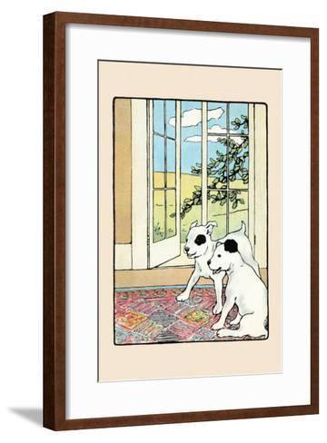 Snip And Snap on the Rug-Julia Dyar Hardy-Framed Art Print