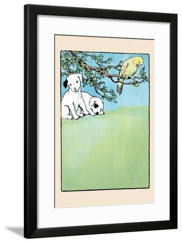 Snip And Snap And Polly Parrot-Julia Dyar Hardy-Framed Art Print