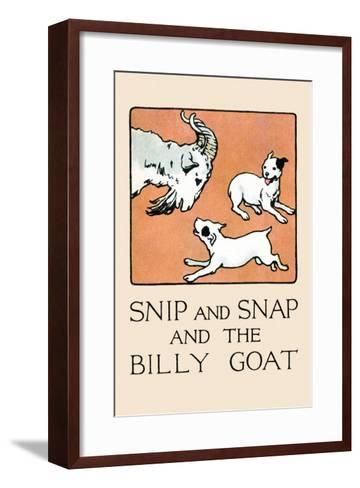 Snip And Snap And the Billy Goat-Julia Dyar Hardy-Framed Art Print