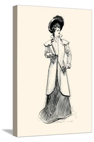 Lady With Binoculars-Charles Dana Gibson-Stretched Canvas Print