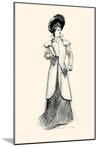 Lady With Binoculars-Charles Dana Gibson-Mounted Art Print