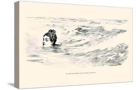Not a Sea Serpent-Charles Dana Gibson-Stretched Canvas Print
