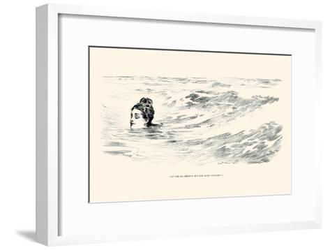 Not a Sea Serpent-Charles Dana Gibson-Framed Art Print