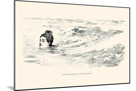 Not a Sea Serpent-Charles Dana Gibson-Mounted Art Print