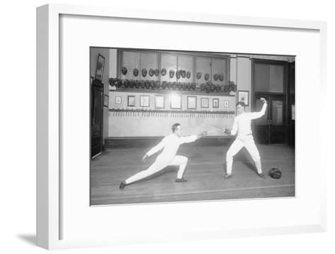 Jousting For Advantage--Framed Art Print