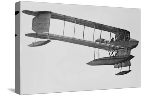 Burgess Sea Biplane of the Naval Militia--Stretched Canvas Print