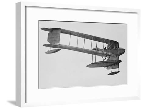 Burgess Sea Biplane of the Naval Militia--Framed Art Print