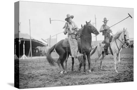 Wild West Polo Played By Cowboys on Horses at Coney Island--Stretched Canvas Print