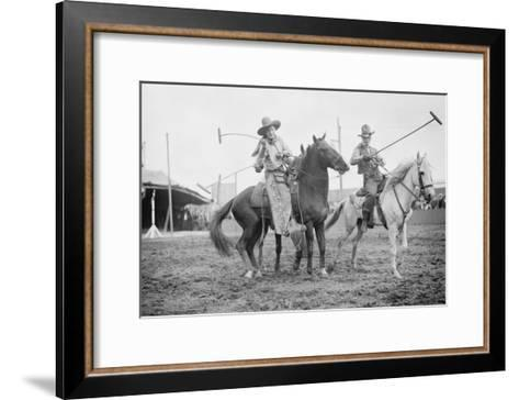 Wild West Polo Played By Cowboys on Horses at Coney Island--Framed Art Print