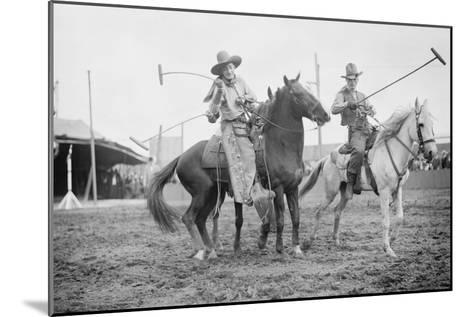 Wild West Polo Played By Cowboys on Horses at Coney Island--Mounted Art Print
