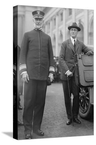Franklin Delano Roosevelt As Secretary of the Navy--Stretched Canvas Print