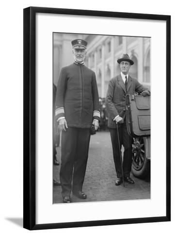 Franklin Delano Roosevelt As Secretary of the Navy--Framed Art Print