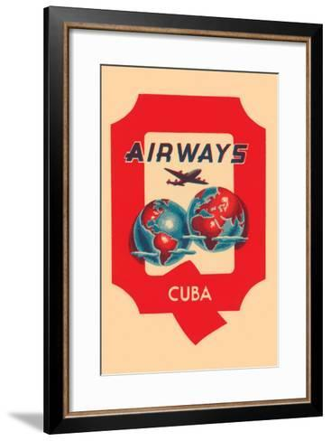 Q Airways Cuba--Framed Art Print