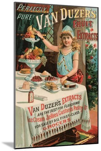 Van Duzer's Fruit Extracts--Mounted Art Print
